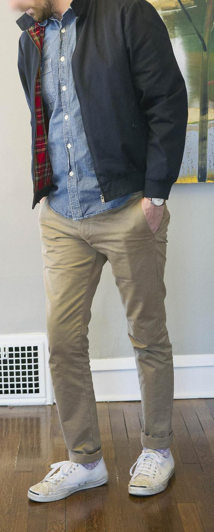 Chambray Shirt With Khakis