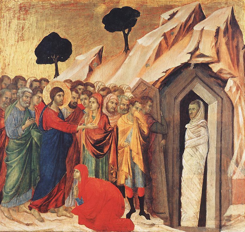 'The Raising of Lazarus' by Duccio di Buoninsegna, 1310-11 loss and regret