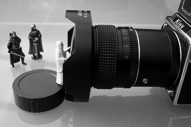 Gandalf-figure-and-camera