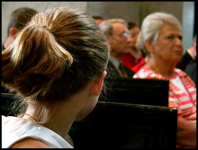 woman-in-church