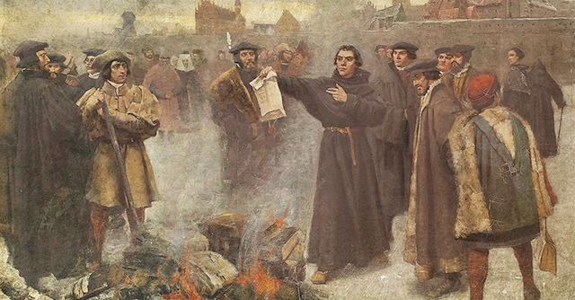 Karl Aspelin - Martin Luther burning papal bull