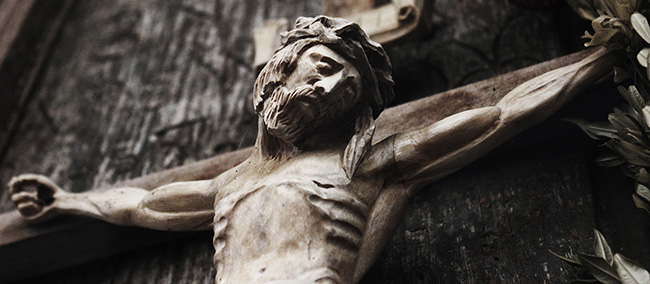 Christ crucified carving