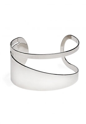 CUT OUT CUFF IN SILVER