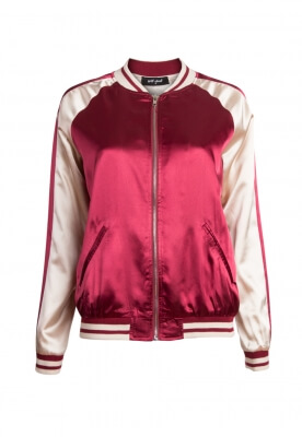 VARSITY TWO TONE SATIN JACKET