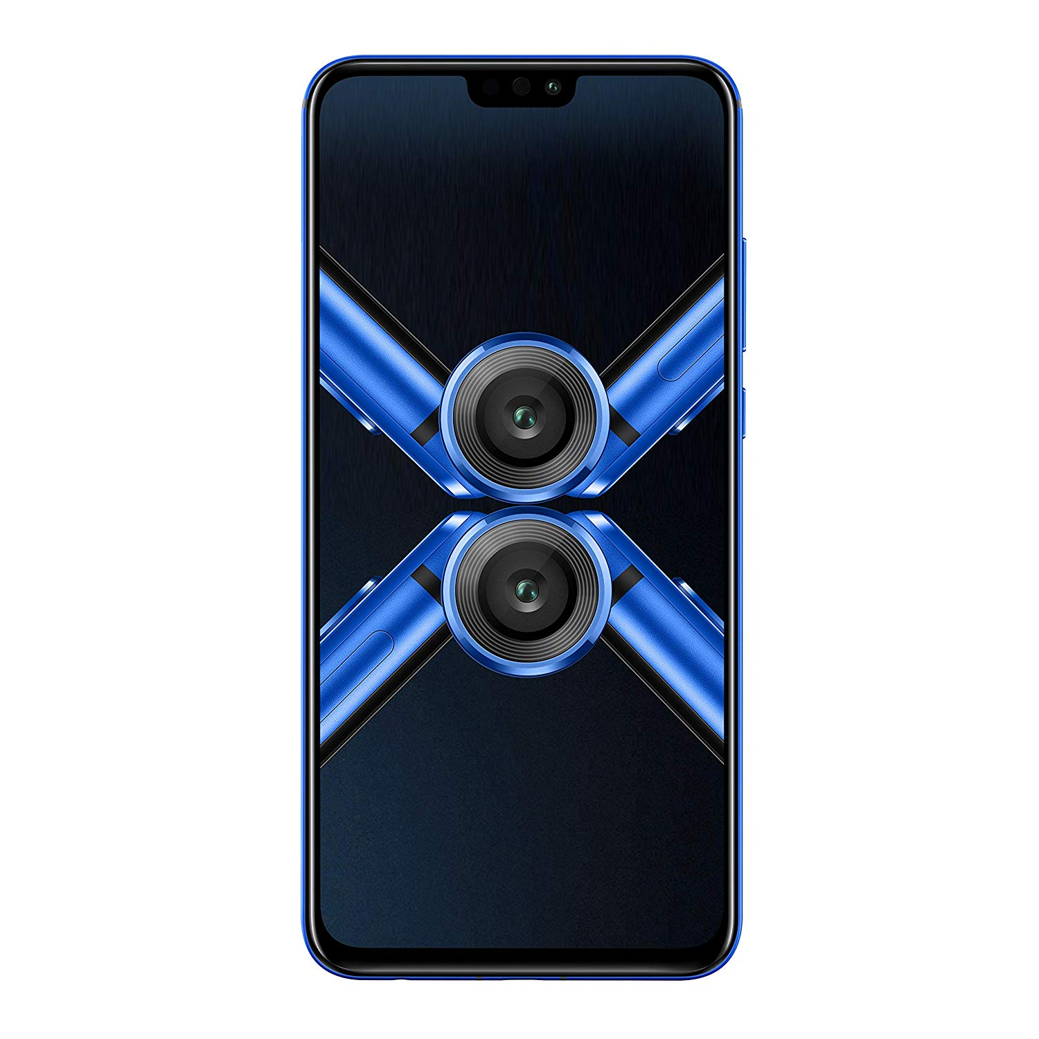 Honor 8X (Black/Blue, 4GB RAM, 64GB Internal Storage - ROM) - Unboxed with 1 Year onsite warranty