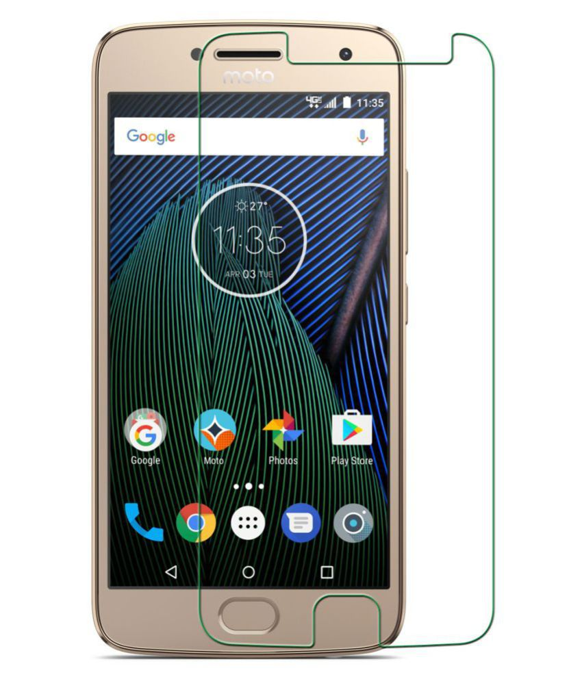Moto G5 Plus Tempered Glass Screen Guard By AVALIK