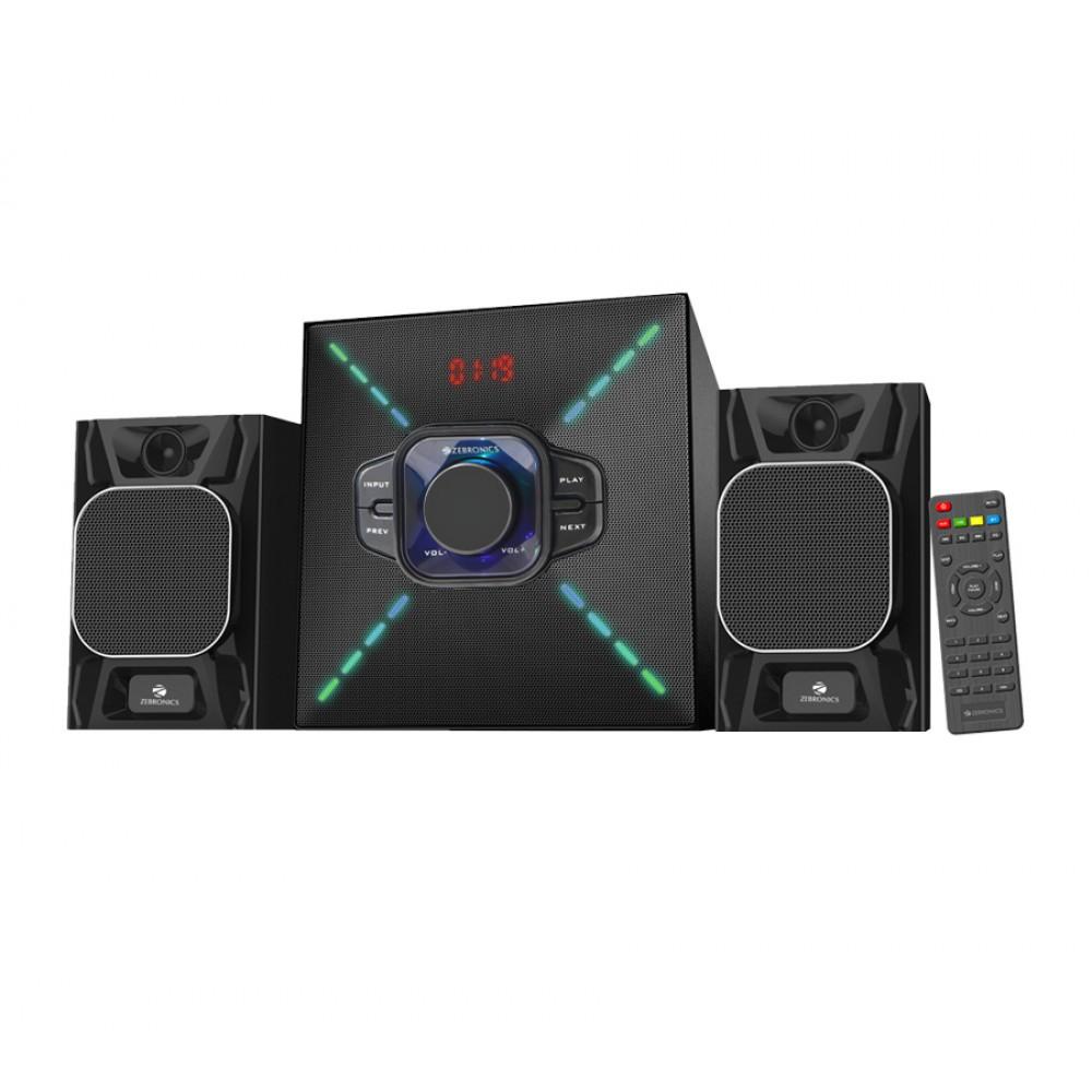 Zebronics Cube-2-BT RUCF - 2.1 Multimedia Speaker