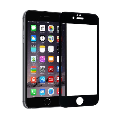 Apple iPhone 6/6s Black Tempered Glass Screen Guard By Avalik