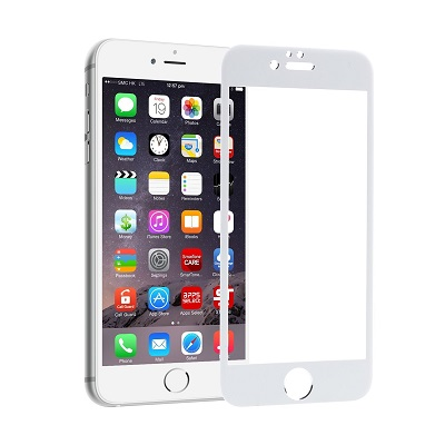 Apple iphone 6/6s white Tempered Glass Screen Guard By Avalik