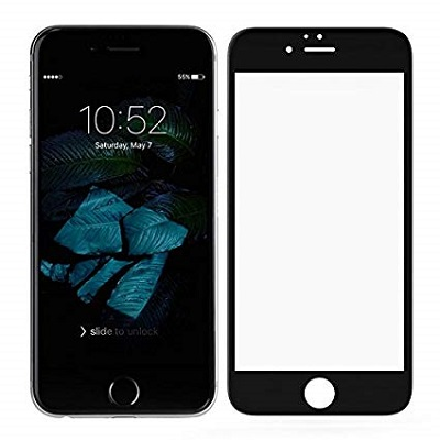 Apple iPhone 7 Black Tempered Glass Screen Guard By Avalik