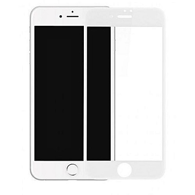 Apple iPhone 7 Plus white Tempered Glass Screen Guard By Avalik