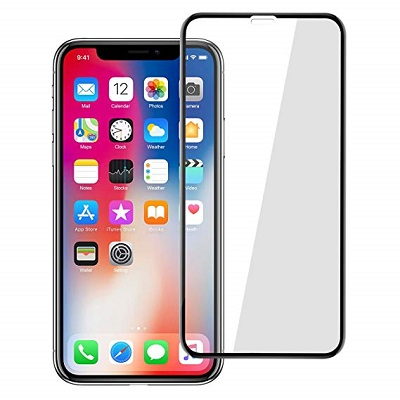 Apple iPhone XS Max Black  Tempered Glass Screen Guard By Avalik