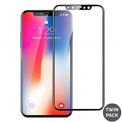 Apple iPhone X Black  Tempered Glass Screen Guard By Avalik