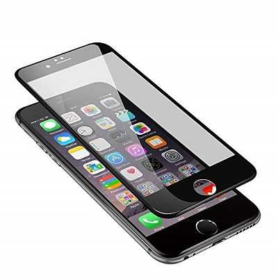 Apple iPhone 6 Plus Black  Tempered Glass Screen Guard By Avalik