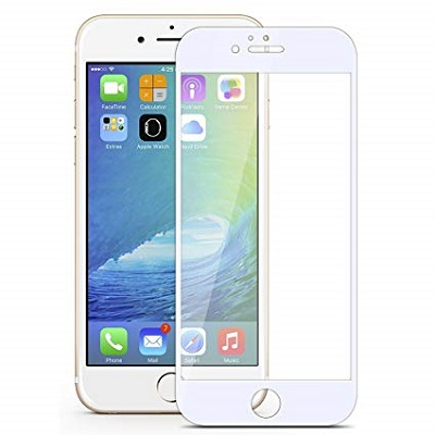 Apple i Phone 6 Plus White   Tempered Glass Screen Guard By Avalik