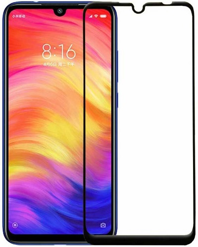 Redmi Note 7 Pro Black Tempered Glass Screen Guard By Avalik