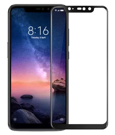 Redmi Note 6 Pro Black Tempered Glass Screen Guard By Avalik