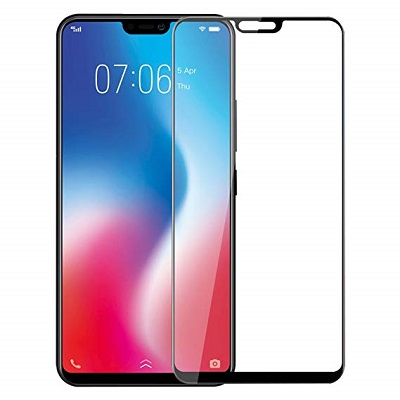 Vivo V 9 Black  Tempered Glass Screen Guard By Avalik