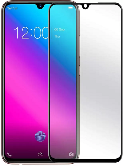Vivo V 11 Black Tempered Glass Screen Guard By Avalik