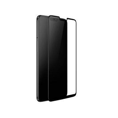 One Plus 6 Black  Tempered Glass Screen Guard By Avalik