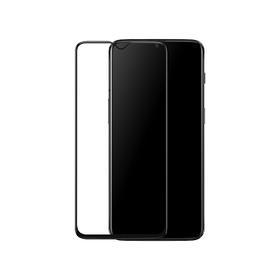 One Plus 6T Black  Tempered Glass Screen Guard By Avalik