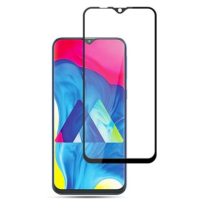 Samsung Galaxy M30 Black Tempered Glass Screen Guard By Avalik