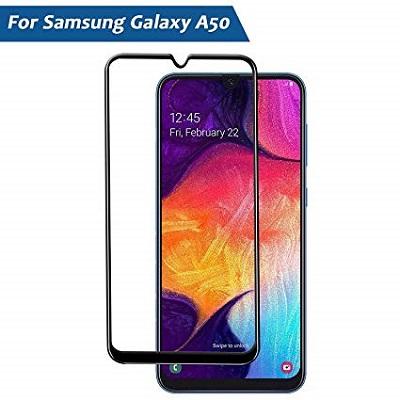 Samsung Galaxy A 50 Black  Tempered Glass Screen Guard By Avalik