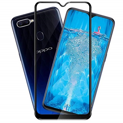 Oppo F 9 Black  Tempered Glass Screen Guard By Avalik