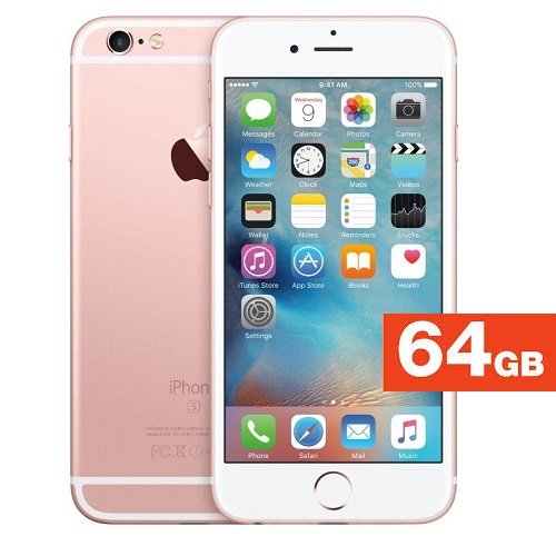Apple iPhone 6s (Rose Gold, 64 GB) - Refurbished with 1 Year Warranty