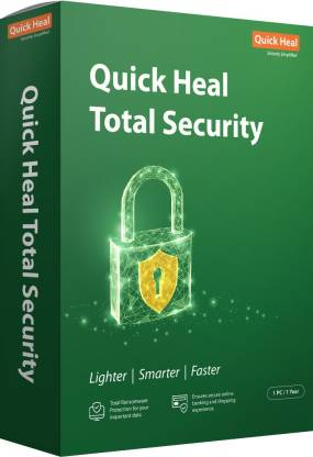 Quick Heal Total Security 1 User 1 Year  (CD/DVD)