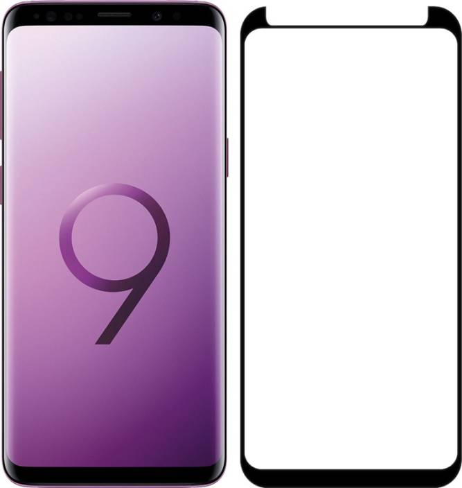 Avalik Tempered Glass for Samsung Galaxy S9 Plus Tempered Glass 3d Full Coverage pack of 1 Black