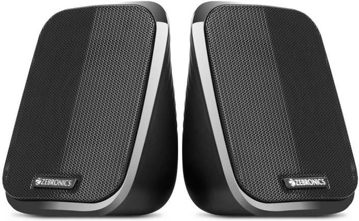 Zebronics FAME 2.0 channel 2.5 W Laptop/Desktop Speaker  (Black, 2.0 Channel)
