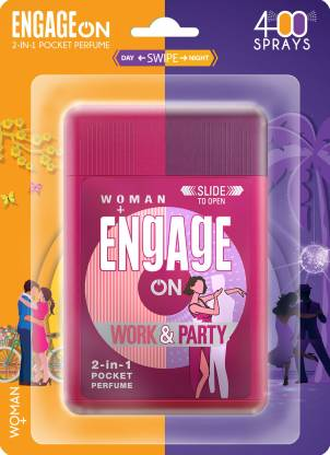 Engage On Work & Party 2-in-1 Pocket Perfume - 28 ml  (For Women)