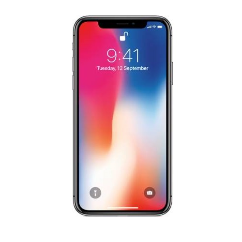 Apple iPhone X (Space Gray, 64 GB), Refurbished Mobile with 6 Months Warranty