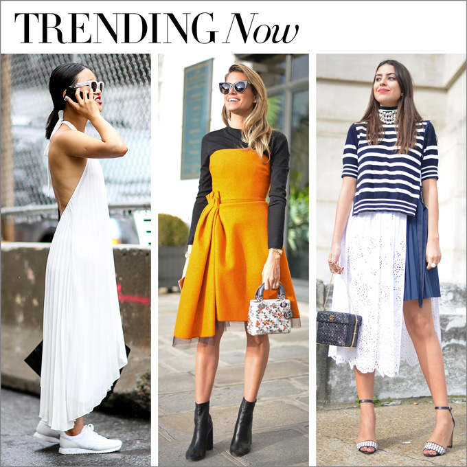 trending now…perfectly imperfect hemlines