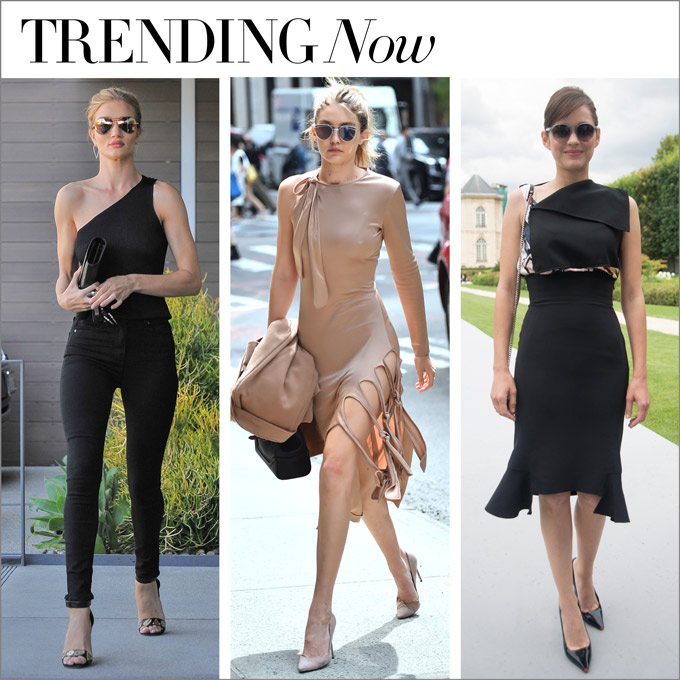 trending now...one-shoulder wonders