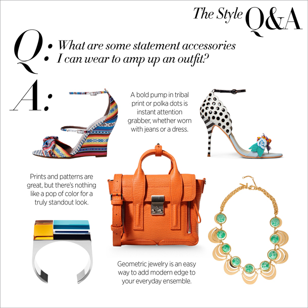 the style q&a... statement accessories