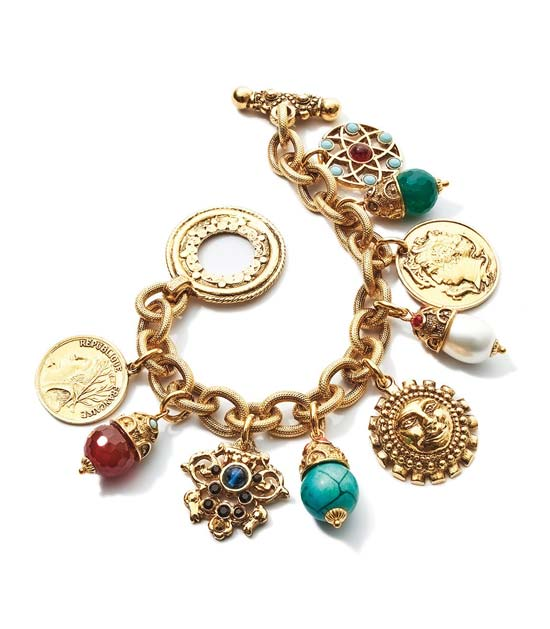 Jose and Maria Barrera gold bejeweled bracelet