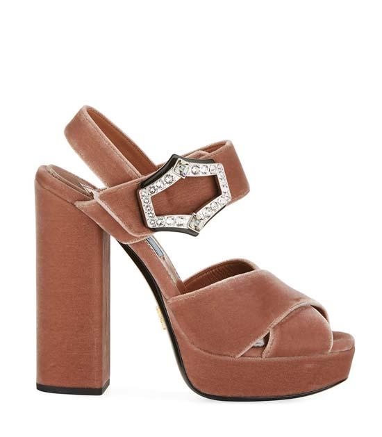 Prada camel heels