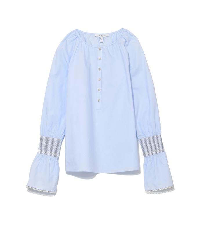 sky collarless 'henley' shirt