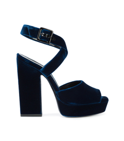 blue debbie cross sandal