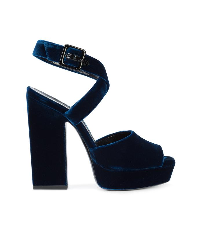 midnight blue debbie cross sandal
