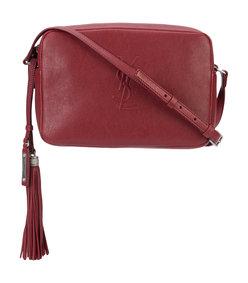 dark red lou' camera bag