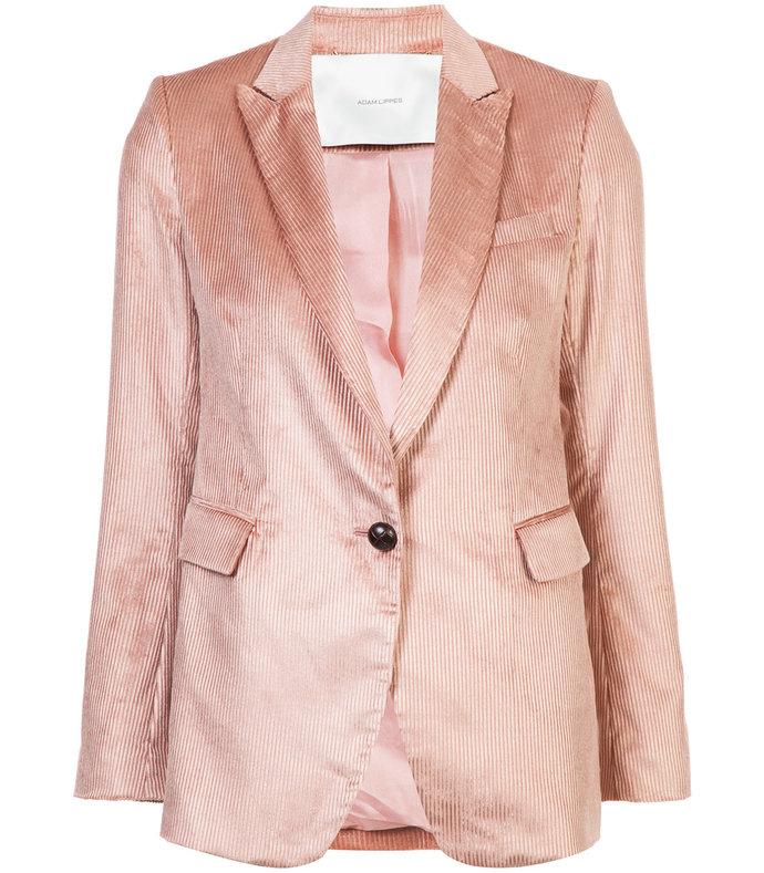 pink single breasted boyfriend blazer