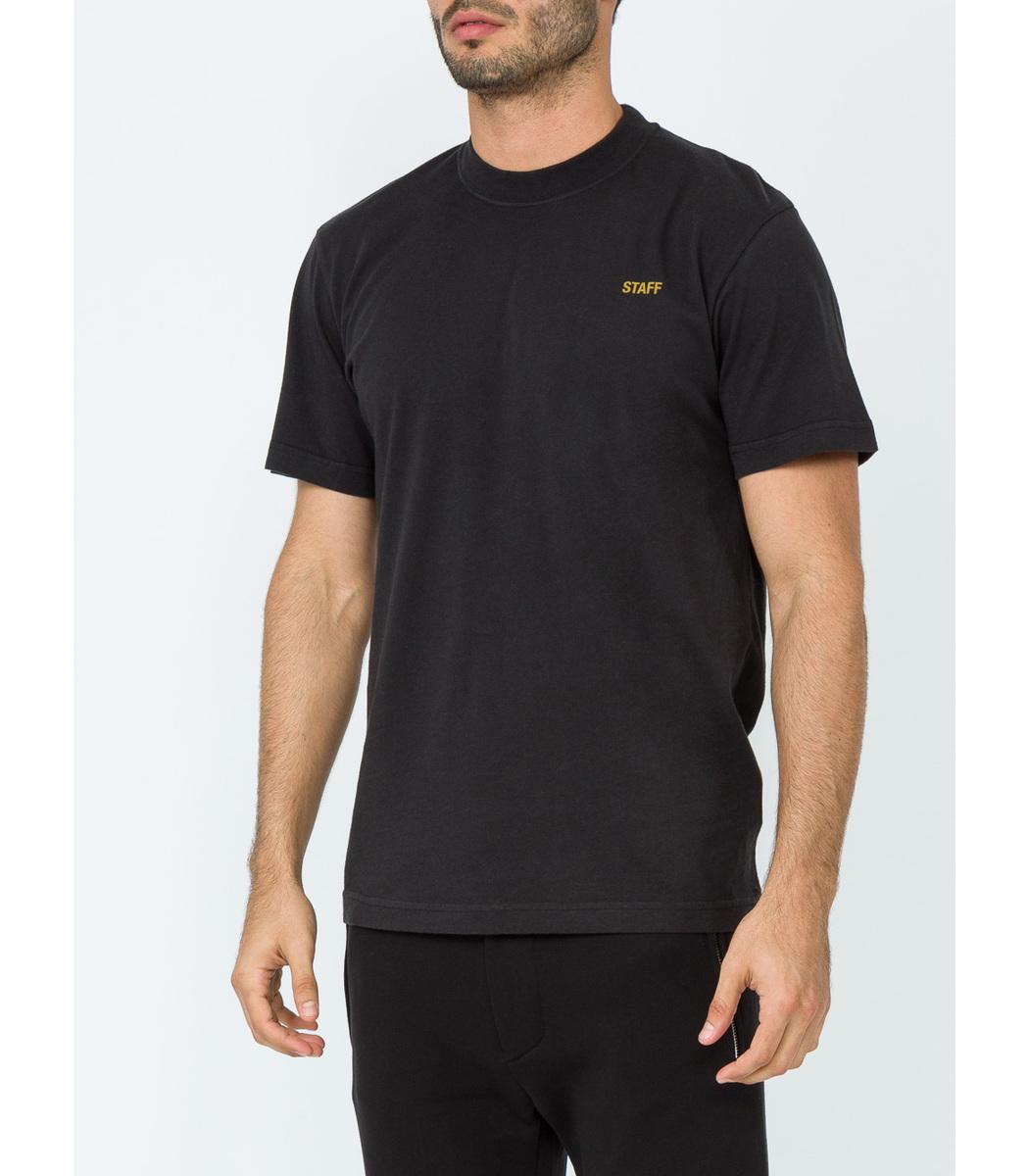 Vetements Staff Crew Neck Tee Shirt - Black Cotton Tee Shirt