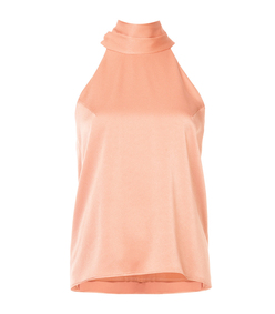 orange halterneck blouse