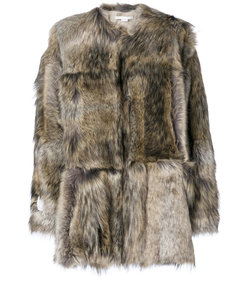 brown fur free fur elina coat