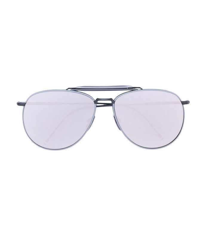 grey mirror aviator sunglasses