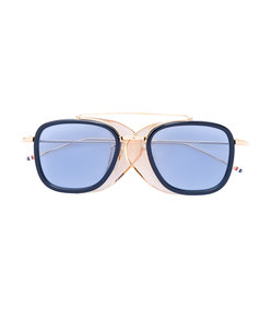 blue square frame sunglasses