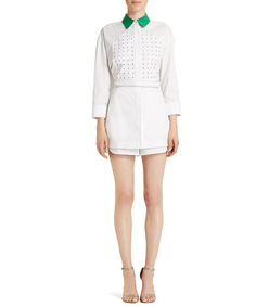 ShopBazaar Alexander Wang Collared Romper FRONT